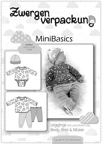 Farbenmix Minibasics Schnittmuster (Papierschnittmuster für die Größen 50/56-74/80) Leggings, Body, Mütze, Shirt