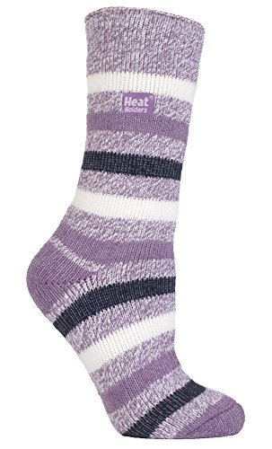 HEAT HOLDERS - Damen Gemusterte Twist Thermal Socken in 10 Farben, Größe 37-42 EUR (ambleside)
