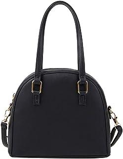Ultramall Fashion Women Solid Color Zipper Handbag Phone Bag Shoulder Bag Artificial Leather Messenger Bag For Women