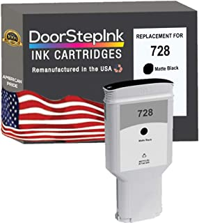DoorStepInk Remanufactured in The USA Ink Cartridge Replacements for HP 728 300ml Matte Black F9J68A for Printers DesignJet T730 36-in Printer, DesignJet T830 24-in MFP, DesignJet T830 36-in MFP