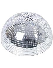 Media bola de discoteca GLANZ con motor de seguridad, Ø 30cm, plateada - Efectos de luz / Decoración fiestas - showking