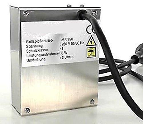 Grillmotor aus Edelstahl für Spieß 230 Volt