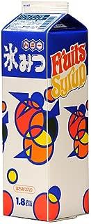【かき氷シロップ】ハニー 氷みつ 1.8リットル Aタイプ ハワイアンブルー味 8本セット
