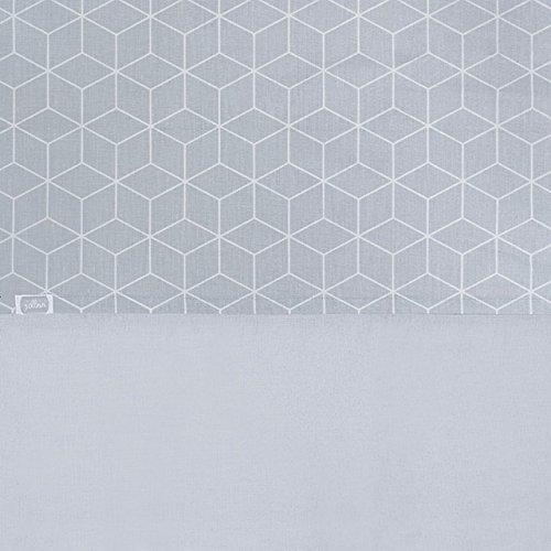 Jollein Housse de couette et taie d'oreiller, drap 120 x 150 cm Graphic Gris, drap 120 x 150 cm Graphic Gris, DE