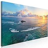 murando Cuadro en Lienzo Paisaje 135x45 cm impresión en Material Tejido no Tejido impresión artística fotografía Imagen gráfica decoración de Pared - Mar Playa c-B-0525-b-a