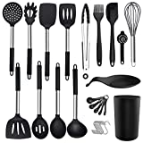 Silicone Cooking Utensil Set - ADINC 480℉ Heat Resistant Dishwasher Safe Silicone Cooking Kitchen...