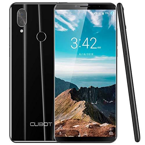 CUBOT X19 64GB 5.93-Inch FHD+ Android 9.0 4G Smartphone Unlocked with 4GB RAM, Dual Sim, 4000mAh Battery, 16MP Camera, Fingerprint Sensor,Face ID SIM-Free Moible Phone(Black)