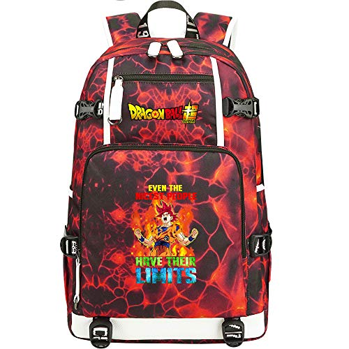 ZZGOO-LL Dragon Ball Son Goku/Vegeta IV/Torankusu Zaino per laptop anime Borsa da viaggio per laptop Daypacks Borsa leggera con USB-A