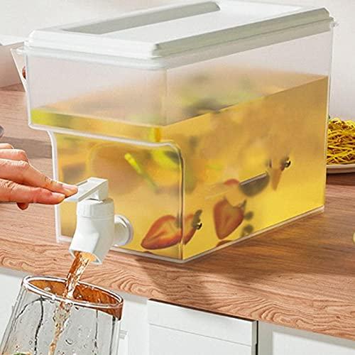 lencyotool 0,92 Galones / 3,5 litros Dispensador De Bebidas con Grifo Tetera De Frutas con Grifo Dispensador De Agua para Nevera Jarra De Agua para Frigorífico para Preparar Tés Y Jugos Sin BPA