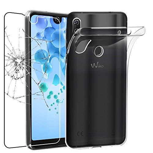 ebestStar - kompatibel mit Wiko View 2 Pro Hülle Handyhülle [Ultra Dünn], Durchsichtige Klar Flex Silikon Schutzhülle, Transparent + Panzerglas Schutzfolie [Phone: 153 x 72.6 x 8.3mm, 6.0'']