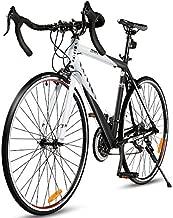 Goplus Commuter Bike Road Bike Quick Release Aluminum 700C Shimano 21 Speed (Red)