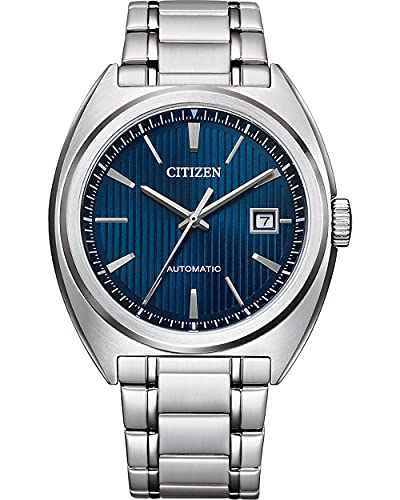 CITIZEN Herren Analog Automatik Uhr mit Edelstahl Armband NJ0100-71E