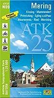 Mering 1 : 25 000: Kissing, Mammendorf, Prittriching, Egling a.d. Paar, Moorenweis, Ried, Merching