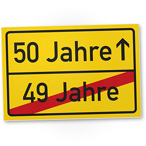 DankeDir! 50 Jahre (49 Jahre vorbei) - Kunststoff Schild, Geschenk 50. Geburtstag, Geschenkidee Geburtstagsgeschenk Fünzigsten, Geburtstagsdeko/Partydeko/Party Zubehör/Geburtstagskarte