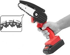 Mini cortador eléctrico inalámbrico de madera de la sierra de cadena 550W con una sola mano vio carpintería rojo