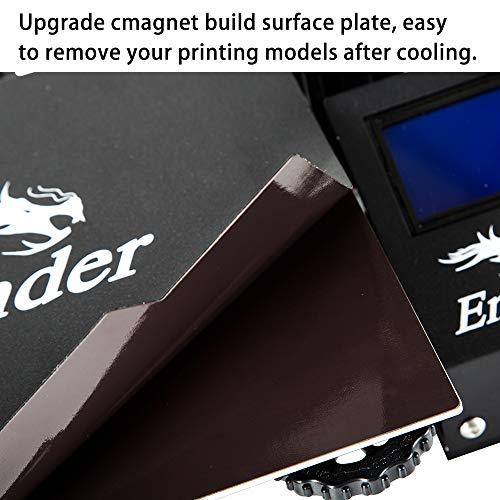 Comgrow Creality Ender 3 Pro - Impresora 3D con placa de superficie extraíble y fuente de alimentación con certificación UL, 220 x 220 x 250 mm