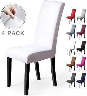 comprar comparacion Fundas para sillas Pack de 4 Fundas sillas Comedor Fundas elásticas, Cubiertas para sillas,bielástico Extraíble Funda, Muy...