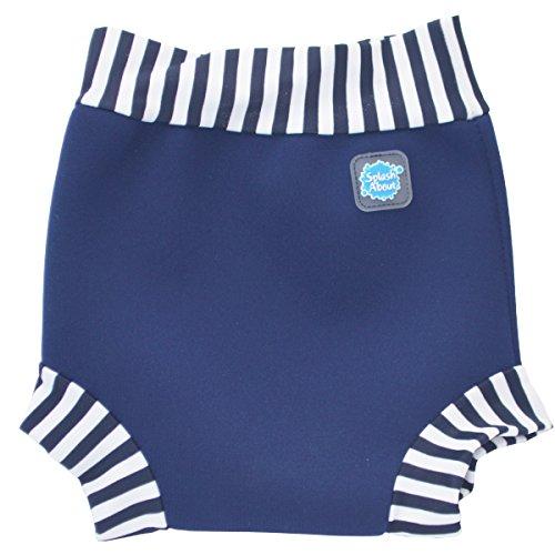 Splash About - Happy Nappy Neopren Baby Badehose und Schwimmwindel - Blau - Größe: Large (6-14 Monate)