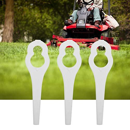 FTVOGUE 50pcs Grass Trimmer Plastic Replacement Blades Lawn Mower Parts for Bosch ALM 28 30 (White)
