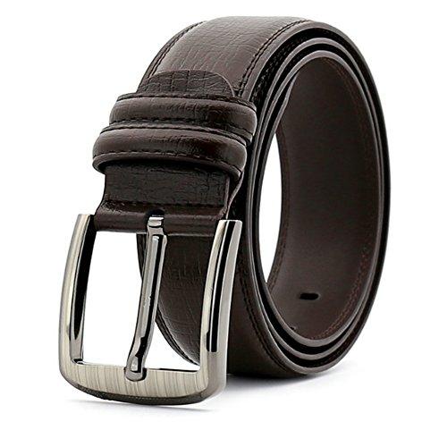 Huangjiahao Cinturón para Hombres Cinturones para Hombres Negocios Hebillas de Cuero Casuales Cinturones con Dibujos geológicos adecuados para Todas Las Estaciones y Lugares Regalo de San Valentín