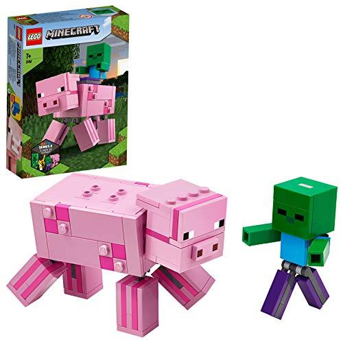 LEGO Minecraft - BigFig: Cerdo con Bebé Zombi