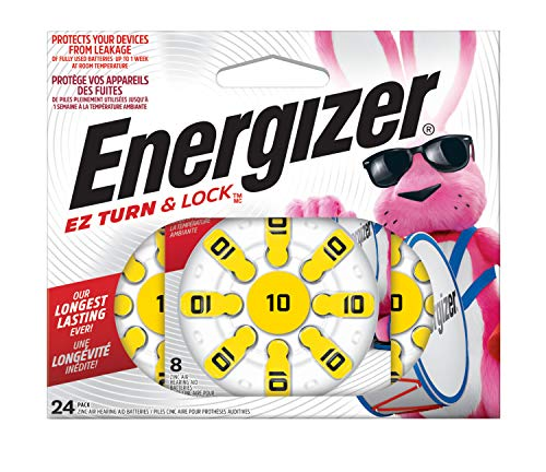 Energizer Hearing Aid Batteries, EZ Turn & Lock (Battery), Size 10 (24 Count)