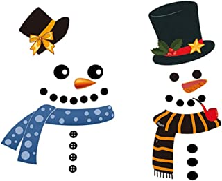 Mendom Christmas Decorations Snowman Refrigerator Decals, Large Self-adhensive Stickers for Fridge, Cabinets,Metal Door, Garage, Office Cabinets