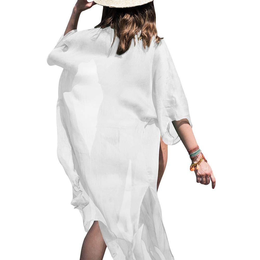 LiféUP Mujer Gasa Kimono Chaqueta de Punto para Camisa Playa Capa Bikini Cubren Punta Kimono: Amazon.es: Hogar