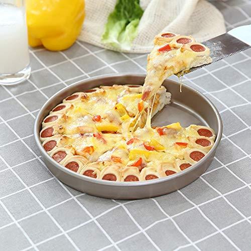 GAO-bo Molde de la Torta de la hornada Herramientas, Hornear Pizza bandejas, Hecho en casa de los Pasteles Galletas y pequeña panificadora Bandejas, Regalo del día de la Madre (Size : 8 Inches)