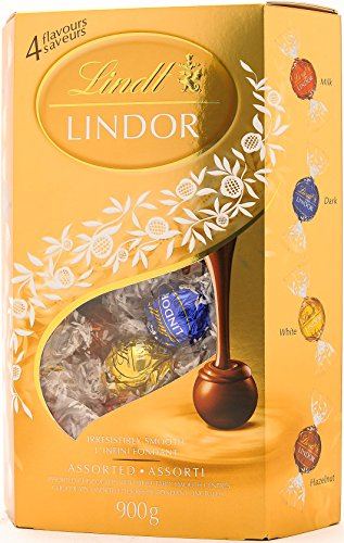 Lindt Lindor Assorted Chocolate Truffles, Value Gift Pack, 31.7 Ounce