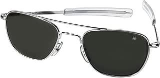 AO American Optical Original Pilot Sunglasses Silver 52mm Bayonet Temples