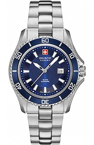 SWISS MILITARY-HANOWA Damen Analog Quarz Uhr mit Edelstahl Armband 06-7296.04.003