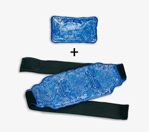 Reusable Ice Pack for Injuries - Hot & Cold Pain Relief Therapy Pack with Strap | Innovative Bead Technology Provides The Best Hot/Cold Pain Relief Wrap for Back, Knee, Shoulder, Ankle Calves & Hips