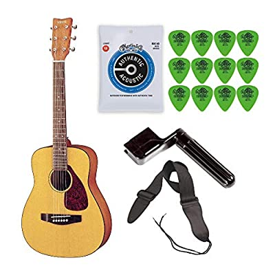 Yamaha JR1 3/4 Size Acoustic Guitar Bundle with Bag,Strap,Strings,Winder and Picks