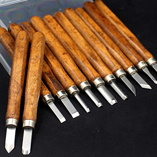 NOEL Chisel - 3/4/5/8/10/12pcs Wood Carving Hand Chisel Tool Set Woodworking Professional Carving Knife Set - by 1 PCs