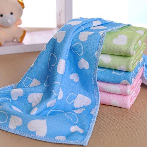 XdiseD9Xsmao Love Heart Pattern handdoek van zachte microvezel, waterabsorberend, duurzaam, voor baby's en kinderen