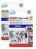 tesa Powerstrips Large/Doppelseitige Klebestreifen zur Montage von Gegenständen bis 2kg - Wieder ablösbar 10 Strips (2 Packungen, Large)