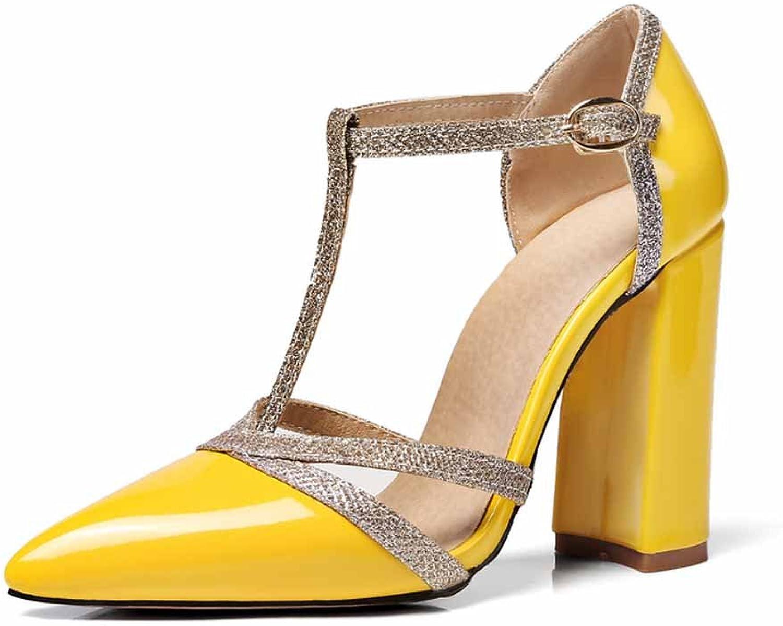 Women Pointed Sandals 2018 Summer Super High Heel Buckle Hollow Roman Sandals Large Size 40-48