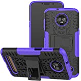 Viodolge Moto Z3 / Moto Z3 Play Case, [Shockproof] Rugged Dual Layer Protective Phone Case Cover with Kickstand for Motorola Moto Z3 / Moto Z3 Play (2018) (Purple)