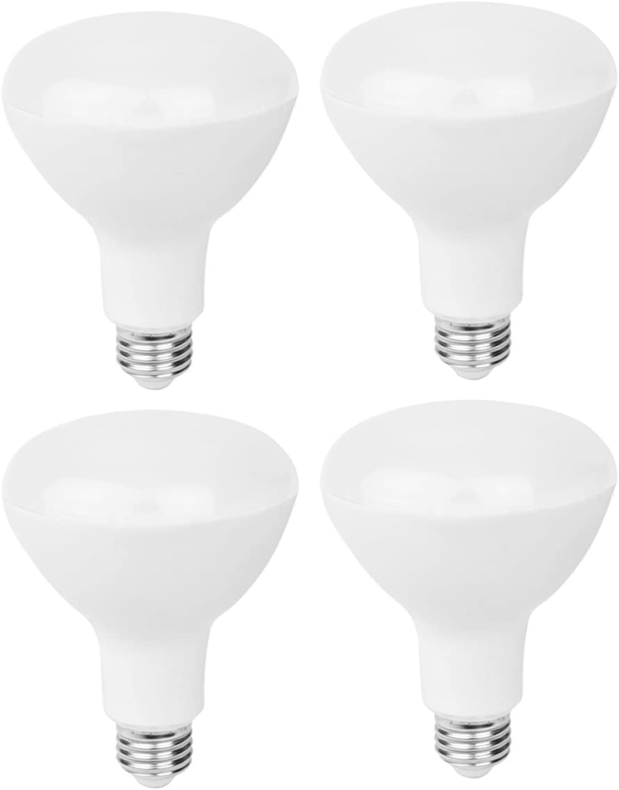 4-Pack Baltimore Mall LED BR30 Flood Light Seasonal Wrap Introduction Bulbs Da 5000K 15w Equivalent 100w