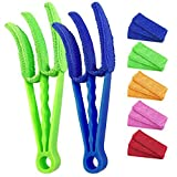 Window Blind Cleaner Tools: 2Pack Cleaner Duster Brush with 5 Microfiber Sleeves for Window Shutters Blind Air...