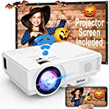 Wifi Projector, Projector 6000 Lumen With Projector Screen, 1080P Full HD Supported Wireless