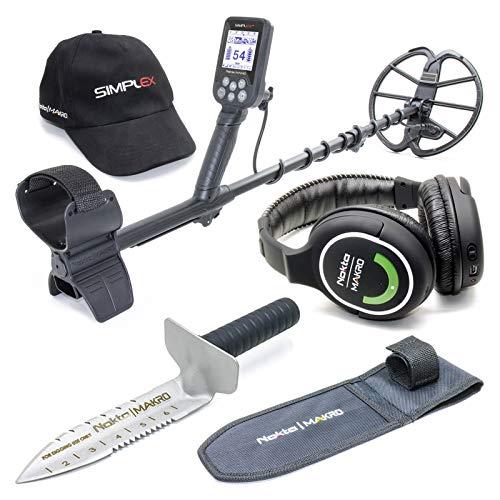 Nokta Simplex Submersible Metal Detector with Wireless Headphones and Premium Stainless Steel Digger Detectors Metal