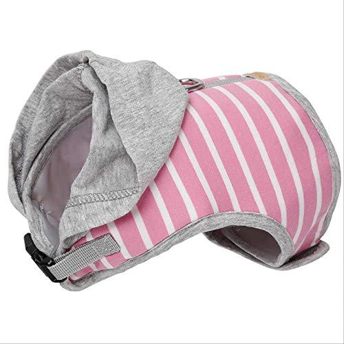 XYBB hondenharnas voor honden en katten, zacht Pet Dog Harnesses Vest No Pull verstelbaar Chihuahua Puppy Cat Maash Set voor kleine honden Medi mantel, S (in vi, Roze.