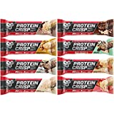 BSN Protein Crisp Bar Syntha-6 Low Sugar Whey Protein Bar 8 Flavors Variety Sampler Pack (8 Pack)