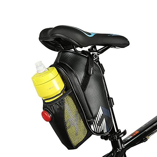 BAONUOR Satteltasche Fahrrad wasserdichte Fahrradtasche mit Flaschenhalter Werkzeugtasche Fahrrad Handytasche für Rennrad, Mountainbike, Straßenrad et (Ohne Wasserflasche)