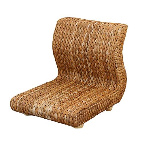 XIAOMEI Japaner Tatami Stuhl,mit Rückenstütze Umweltfreundlich Banana Leaf Ergonomie Low Legless Stuhl Bodenühle Spiele Für Erker Zimmer-b
