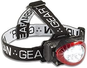 Lewis N. Clark Urban Gear 10 LED Headlamp Flashlight Super Bright Head Lamp for Running, Camping, Hiking, Climbing, Fishing, Hunting, Jogging, 35 Lumens Headlight for Adults & Kids, Red