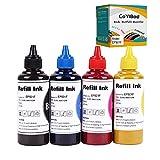 CoYlBod Dye Sublimation Ink Heat Transfer for Inkjet Printers Refillable Ink Cartridge CISS for WF-2540 WF2630 WF-2650 WF-2660 WF2760 WF3540 WF3610 WF7010 WF7510 WF-7520 CX3800 ET-2650 (4 Colors)