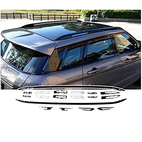 SFSGH Portaequipajes de Techo para Coche, para Land Rover Range Rover Evoque 2010 y ndash;2018, aleación de Aluminio/portaequipajes, sin Necesidad de perforar, Carga 440 LB, instalación